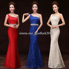 One shoulder Lace Mermaid Dress Formal Evening Prom Party dress Ball gown F004