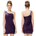 Sexy Ladies Mini One Shoulder Cocktail Party Club Prom  Dresses 03594 Size 6-18