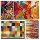 Modern Quality Abstract Art Rug Multi Cloured Soft Touch Small to X Large