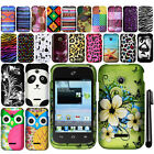 For Huawei Prism 2 U8686 Inspira H867G Rubberized PATTERN HARD Case Cover + Pen