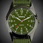 INFANTRY Mens Quartz Wrist Watch Sport Black Military Analog Nightvision Nylon