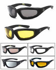 3 PAIRS Chopper Padded Foam Driving Riding Sunglasses - Choose Your Color