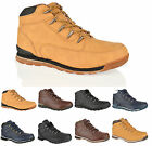 MENS BOYS CASUAL LACE UP COMFORT HIKING WALKING WORK ANKLE BOOTS SHOES SIZE