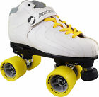 White Jackson Vibe Atom Snap Indoor Quad Speed Roller Skate - Men Size 3-12