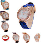 Multi-color Crystal PU Leather Snake Band Quartz Women's Lady Wrist Watches