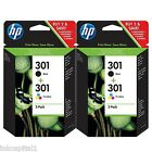 HP No 301 ( 2 x Black & 2 x Colour ) OEM Original Ink Cartridge CH561EE CH562EE