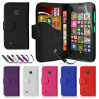 Book Flip Wallet Leather Case Cover For NOKIA Lumia 530 Free Screen Protector