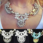 Cheap 1pc Women Multi Crystal Cluster Flower Statement Necklace Jewelry Gift