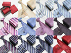 Mens Man Jacquard Tie Hanky and Cufflinks Necktie Set Cute Gift Box