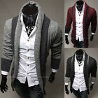 Mens Fashion Slim Fit Casual Sweater Cardigan Lapel Open Knitted Coat Jacket