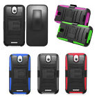 For HTC Desire 510 Cover Rhino Holster Combo Hybrid Case Accessory