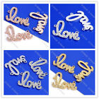 1pc 4Color Clear Crystal Rhinestone Love Letter Connector Charm Finding Bead