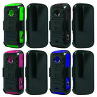 For ZTE Prelude 2 Z667G Cover Rhino Holster Kickstand Combo Dual Case