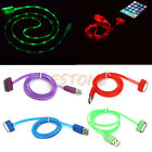 Visible LED Light USB Data Sync Charger Charging Cable Cord for iPhone4/4S