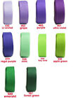 "25y 38mm 1 1/2"" Lilac Purple & Green Shades Premium Grosgrain Ribbon Eco Craft"