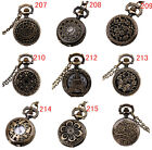 "Multi-style Watches Vintage Bronze 31.5"" Chain Antique Pocket Watch Fashion Gift"