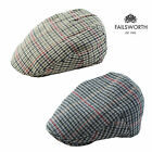 Failsworth Mens Norwich Check Flat Cap 111 Brown 114 Grey Various Sizes
