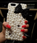HOT NEW DIY handmade Pearl bow skins Case cover for Apple iPhone6 6 plus