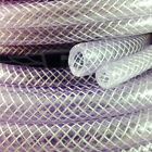 "19.0mm (3/4"") CLEAR PVC BRAIDED HOSE,FOOD GRADE OIL WATER GASES, REINFORCED TUBE"