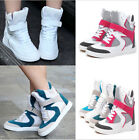 Fashion Women's Mesh High Top Hide Velcro Wedge Sneakers Skateboard Ankle Boots