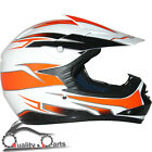 Leopard LEO-X16 Youth Children Kids Motorbike Motorcross MX Helmet Orange/White