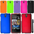 For HTC Desire 610 Rubberized HARD Protector Case Cover Phone Accessory + Pen