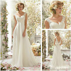 Ivory Lace Bridal Gown Beach Wedding Dress Custom Size 14 6 8 10 12