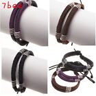 Boho Chic Women Mens Tribal Cow Leather Rope Wrap Surf Surfer Bracelet Cuff Gift