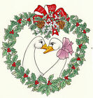 Ceramic Decals Christmas Geese Heart Holly Mistletoe