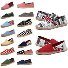 New Men's Canvas Fashion Flat Shoes Striped Color Hemp Man Casual Loafer Slip On
