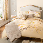 Catherine Lansfield Flora Gold Natural Floral Duvet Quilt Cover Bedding Set