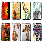 Tribal  Elephant Tiger Animal Soft  Bumper Hard  case For iPhone 4 4s 5 5s 6Plus
