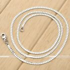 1Pc Silvery White Gold Plated Flat Herringbone Unisex Link Chain Necklace Jewel