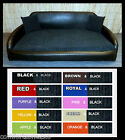 ZIPPY SOFA DOG BED FAUX LEATHER & BLACK JUMBO CORD  5 SIZES - WASH & WIPE CLEAN