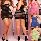 Black Net Women Sexy Lingerie Slim Nightwear Underwear Babydoll Dress G-String E