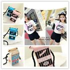 Popular Women Girls Canvas Milk Cartons Shoulder Bag Crossbody Messenger Bag LA