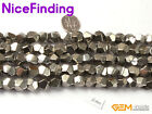 """Faceted Silver Pyrite Natural Stone Craft Jewelry Making  Beads Gemstone 15""""DIY"""