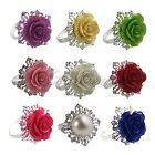 4pcs Romantic Rose Napkin Rings For Wedding Party Ceremony Favour Table Decor