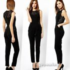 Summer Women Sleeveless Bandage Dress Goth Lace Party Jumpsuit Rompers Playsuits