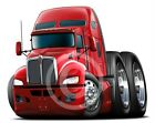Kenworth 660 Semi Truck Cartoon Tshirt  #9545 cartoontees big rig