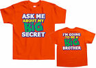 Ask Me About My Big Secret Kids Toddler T-Shirt Tee Big Brother Announcement