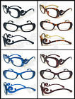 "Womens ""Swirl Baroque"" Reader Reading Glasses Clear Lens +1.00.......+4.00"