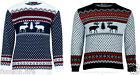 New Mans Boys XMAS Reindeer Novelty Fair Isle Christmas Knitted Jumpers Top