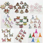 50/250pcs Bulk Lots Nice Mixed Color Wood Buttons Charms Fit Jewelry Findings BS