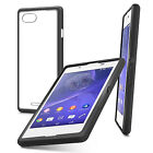 FUSION BUMPER GEL CASE WITH CLEAR BACK COVER FOR NEW SONY XPERIA E3
