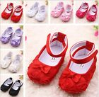 0-18 month Baby Toddler Girl Red Pink Soft Crib Infant Walking Shoes UK Size 123