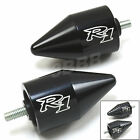 """YAMAHA YZF R1 1998-2013 CNC Spike Bar Ends laser engraved """"R1"""" -Z10 quality made"""