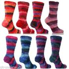 LADIES WOMENS STRIPED LUXURY SOFT FEATHER BED WARM COLOURED SOCKS ADULTS 1 PAIR