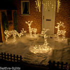LARGE LED INDOOR OUTDOOR CHRISTMAS XMAS BEADED 3D REINDEER FIGURE LIGHT