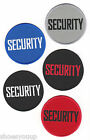 Security Patches in Various Colours Round Embroidered Patch Badges